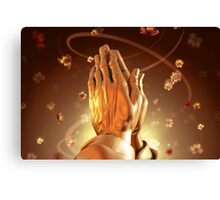 Praying Hands Sending a Message to God Canvas Print