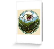Flower Nouveau Greeting Card