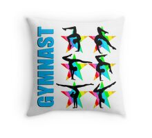 BLUE STAR GYMNASTICS DESIGN Throw Pillow