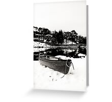 Canoe in Winter Greeting Card