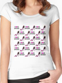 FASHION LOVING SHOE QUEEN DESIGN Women's Fitted Scoop T-Shirt