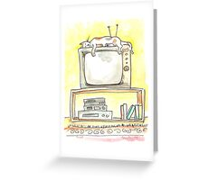 TV Cat Greeting Card
