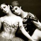 Ballet greats Leslie Browne and Patrick Dupond by Daniel Sorine