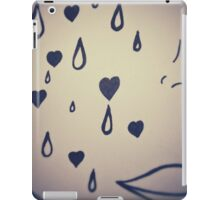Crying Girl in Black and White by Pauline Campos iPad Case/Skin
