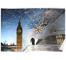 big ben and winston churchill, a reflection Poster