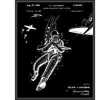 Combat Suit Patent - Black Photographic Print