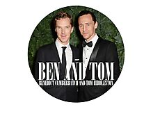 Benedict and Tom Photographic Print