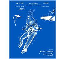 Combat Suit Patent - Blueprint Photographic Print