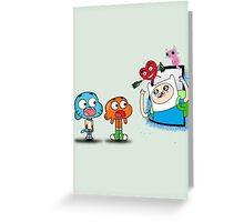 ADVENTURE TIME X GUMBALL Greeting Card