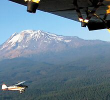 Flying over Mt Adams . . .  by Bill Lane
