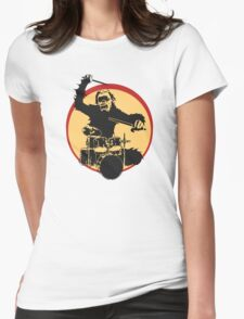 Gorilla Drummer Womens Fitted T-Shirt