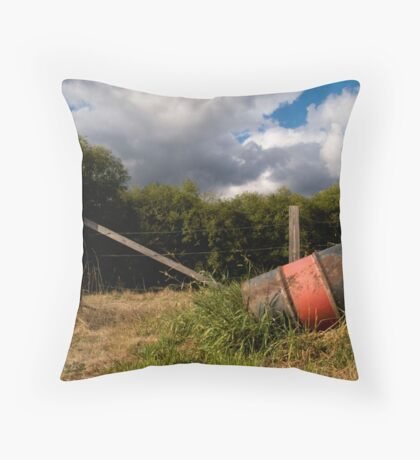 Forgotten Barrel Throw Pillow