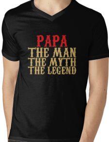 Papa - The Man, The Myth, The Legend Mens V-Neck T-Shirt