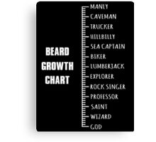 Measure your Beard. Canvas Print