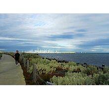 Walking Bayside Photographic Print