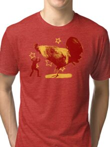 Attack of the Giant Rooster Tri-blend T-Shirt