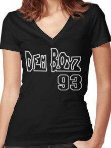 We Dem Boyz Funny Geek Nerd Women's Fitted V-Neck T-Shirt