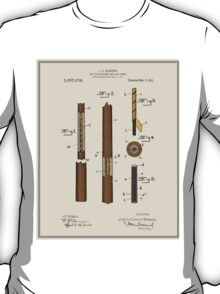 Pool Cue Patent - Colour T-Shirt