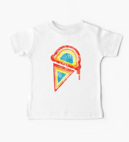 retro rainbow ice cream Baby Tee