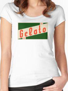 retro gelato Women's Fitted Scoop T-Shirt
