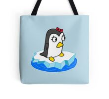 Girly Penguin Tote Bag