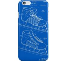 Hockey Skate Patent - Blueprint iPhone Case/Skin