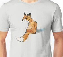 Geometric Watercolour Fox Unisex T-Shirt