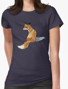 Geometric Watercolour Fox Womens Fitted T-Shirt