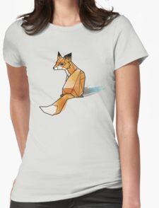Geometric Watercolour Fox Womens Fitted T-Shirt