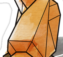 Geometric Watercolour Fox Sticker