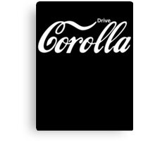 Corolla Coca Cola Canvas Print