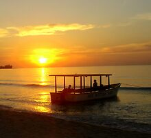 Jamaican Sunset from Negril by Laurel Talabere