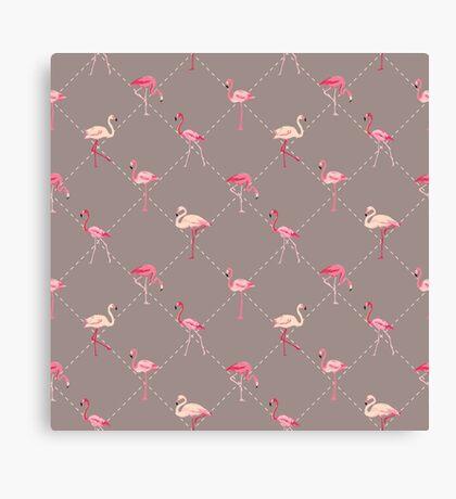 Flamingo Bird Retro Background Canvas Print