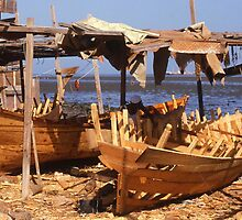 Traditional Boat-builders' Yard. Gizan. Saudi Arabia. by Peter Stephenson