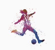 Girl playing soccer football player silhouette Kids Clothes