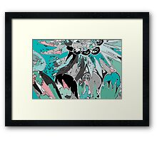 Palms and Pickets Framed Print
