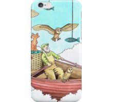 Fish Farmer with owls and a pussycat iPhone Case/Skin