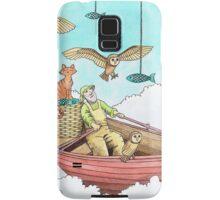 Fish Farmer with owls and a pussycat Samsung Galaxy Case/Skin
