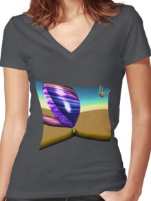 Feather Man's Life Women's Fitted V-Neck T-Shirt