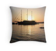 Mediterranean Sunset ... on a Greek Island :) Throw Pillow