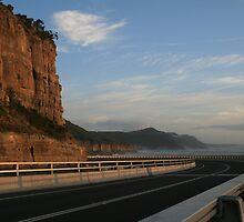 The Sea Cliff Bridge at Dawn. by Kezzarama