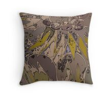 Palms and Pickets at Dusk Throw Pillow