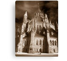 Gothic View of the  Library of Parliament Canvas Print
