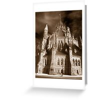 Gothic View of the  Library of Parliament Greeting Card