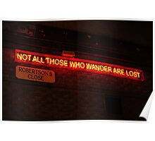 Not all those who wander are lost - JRR Tolkien Poster