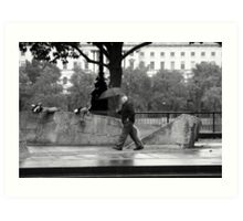 Scramble & Hide - The Man with the Purposeful Stride! Art Print