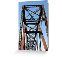 Rails to Trails Ironwork Greeting Card