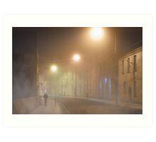 Walking In a Galway Fog - Ireland Art Print