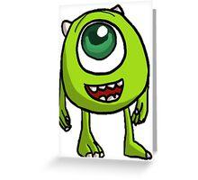 Mike Wazowski cartoon  Greeting Card