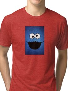 FUNNY COOKIE MONSTER Tri-blend T-Shirt